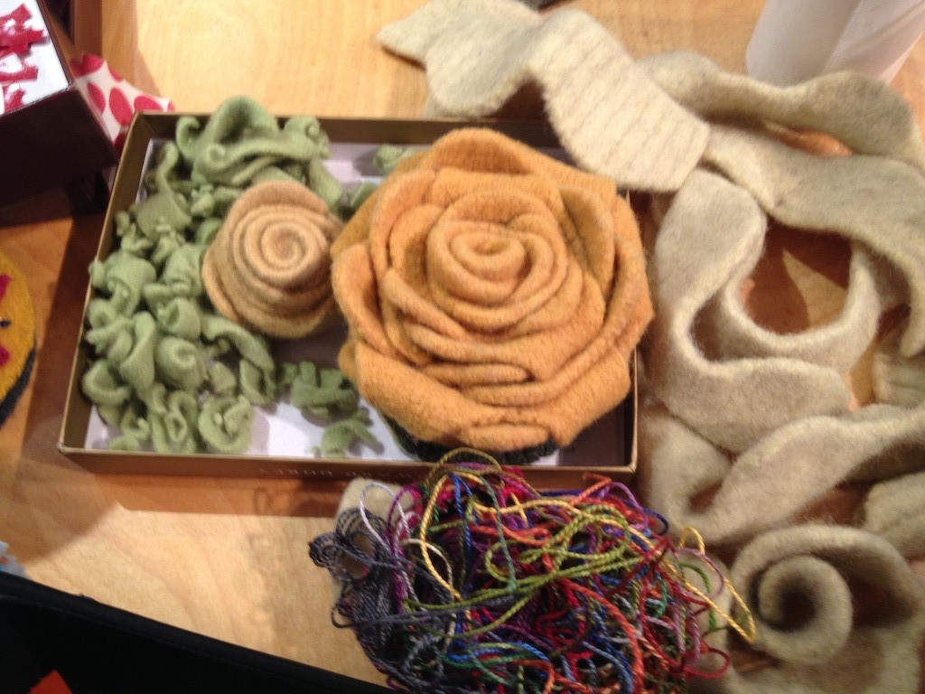 Creating roses from recycled wool Photo credit: Amy Mundinger