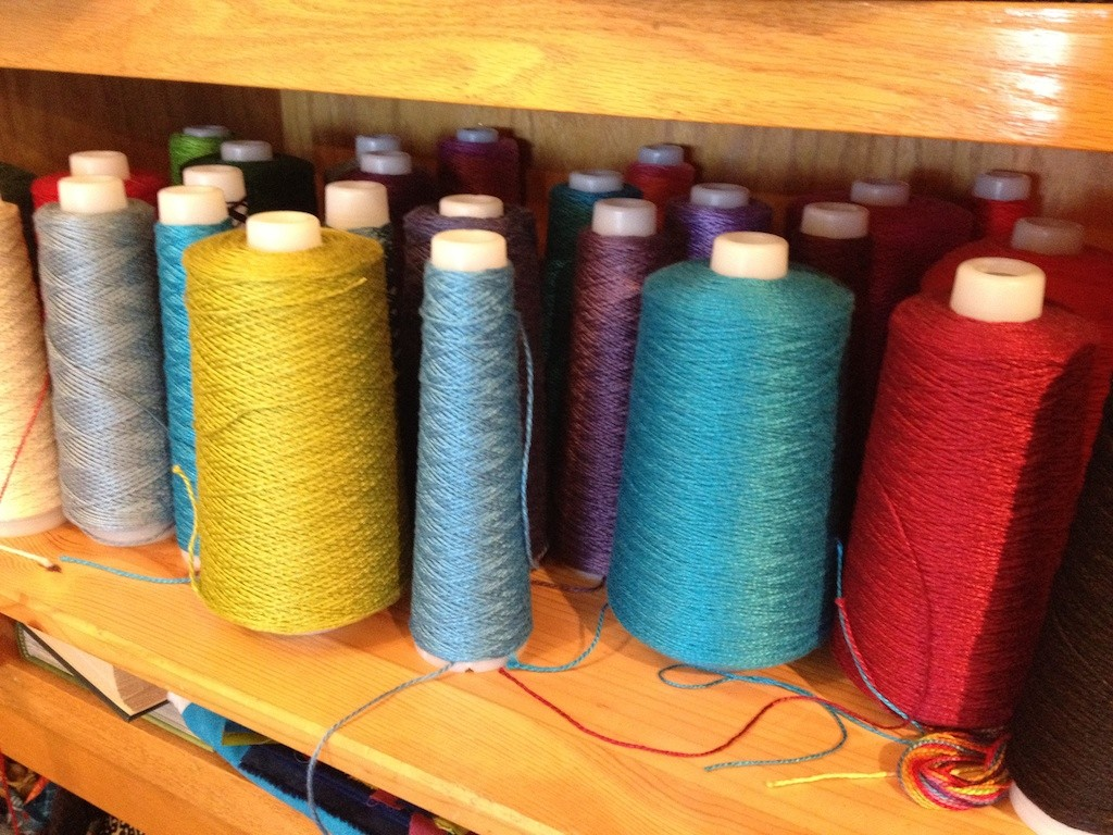 Perle cottons for embellishment Photo credit: Amy Mundinger