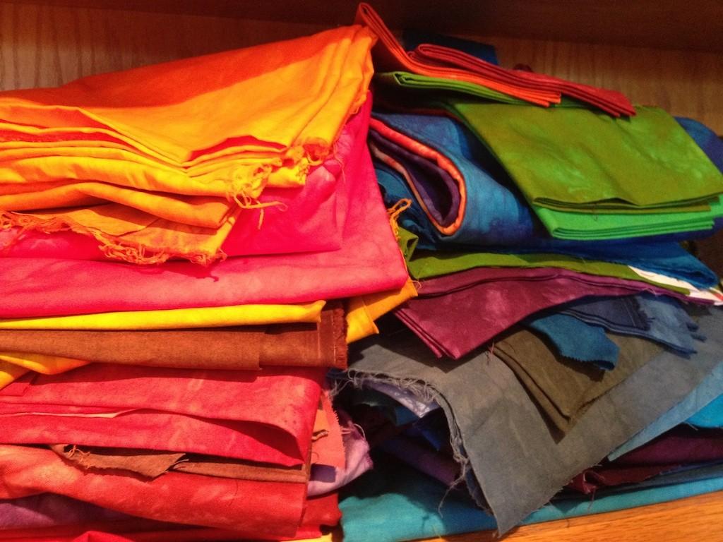 Hand-dyed fabrics by Amy Mundinger Photo credit: Amy Mundinger
