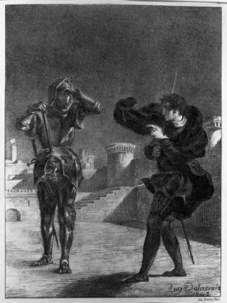 Hamlet et le fantôme de son père, Eugène Delacroix