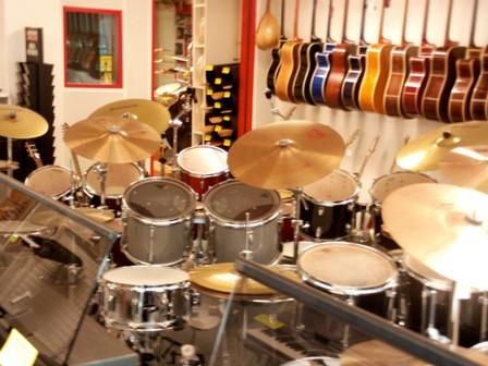 Klein aber fein - Music & Drummershop Verkaufsraum