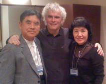 2011年11月22日 ベルリンフィル来日公演時 サントリーホール楽屋にて サイモン・ラトルさんと