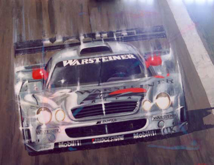 MERCEDES CLK, DTM 2002, by A.Molino, 2003. Oil on canvas (100x80 cm). Private collection.