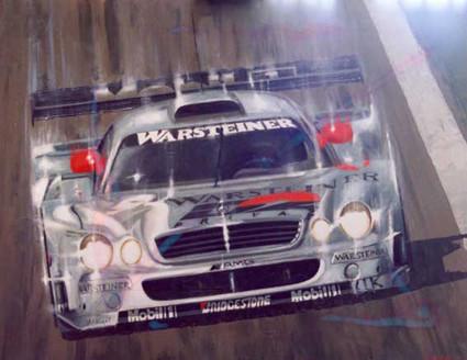 MERCEDES CLK, DTM 2002. Olio su tela (100x80 cm) 2003. Collezione privata.