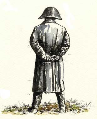 NAPOLEONE I BONAPARTE, IMPERATORE DEI FRANCESI, di A.Molino. Ink on paper, 2007