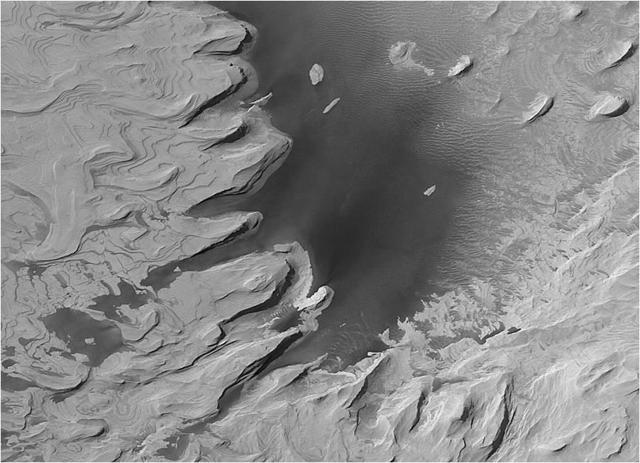 Paisaje marciano - ¿una antigua laguna seca?