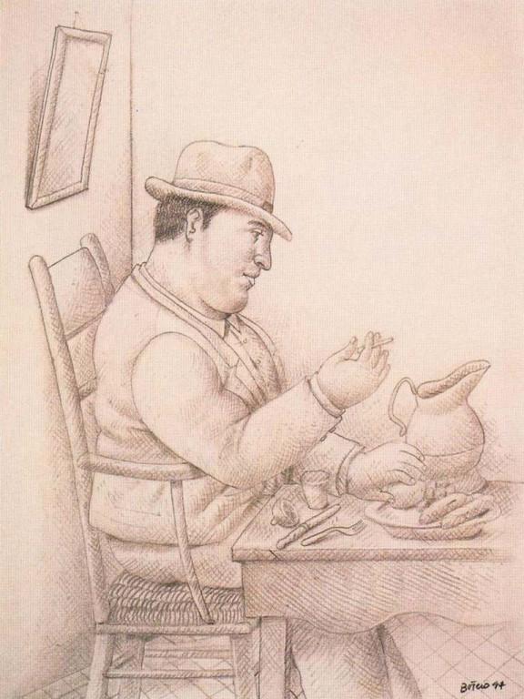 Hombre a la mesa