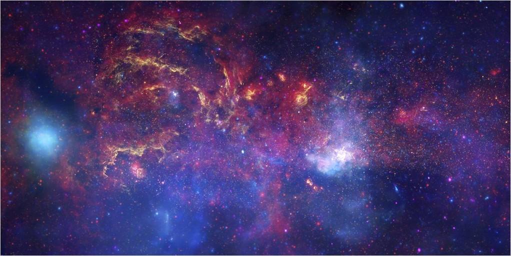 Viendo hacia el centro de nuestra galaxia