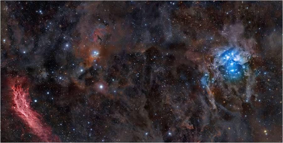 La nebulosa California y las Pléllades