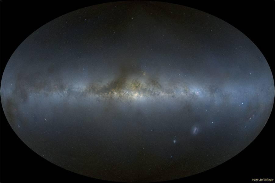 Nuestra galaxia, vista a todo su alrededor desde adentro