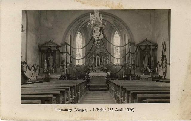 Intérieur de l'église en 1926