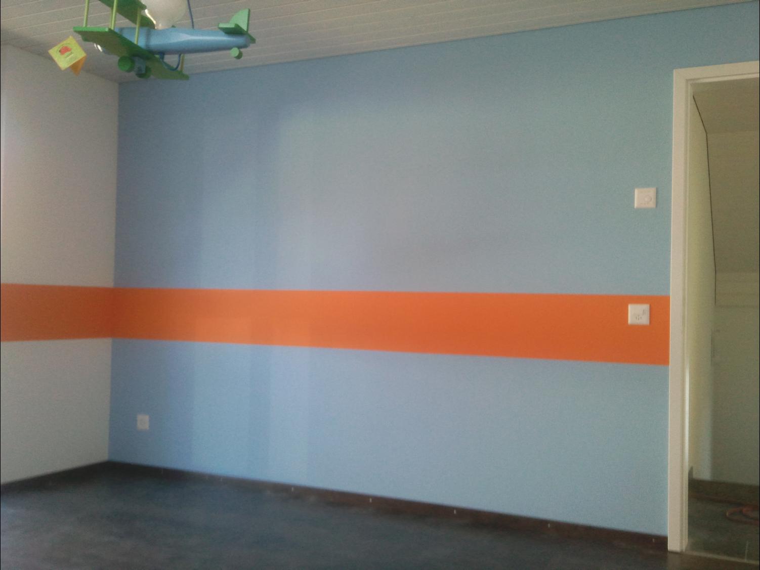 Farbige Tapeten Tapezieren : Innenarbeiten – Maler Koch, Bonstetten