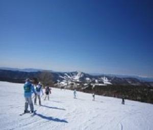 スキー講習中