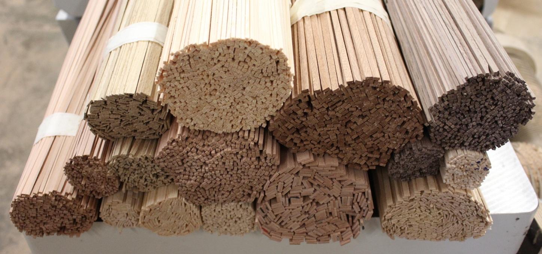 Vierkantleiste Massivholz 60 x 25 mm