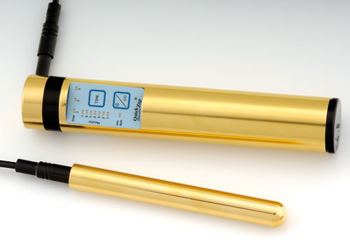 Bild: Power Tube QuickZap Tens-Therapie-Gerät - Ausführung in Farbe Gold Reizstromtherapie-Gerät