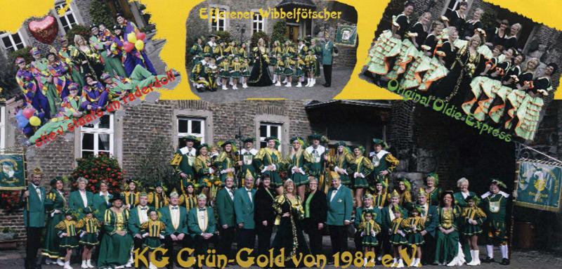 Dat janze Schmölzje vun d'r Prinzessin 2013 met ihrer Gesellschaft KG Grün-Gold