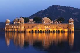 Jaipur Jal Mahal by Night