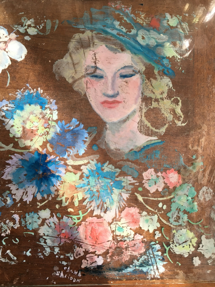Sacha zaliouk (1887-1971) fixé sousverre