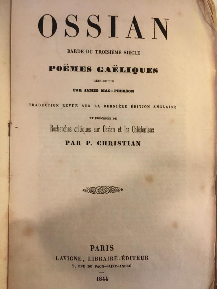 Ossian : poèmes gaéliques