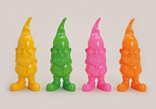 Designer Gartenzwerge Gelb - Grün - Pink -Orange