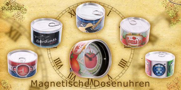 magnetische Dosenuhren mit exklusiven Designs von Ted Smith