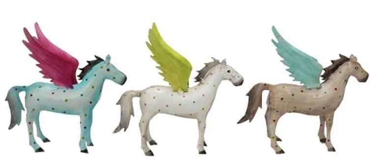 Pegasos figur pferd mit flügel , blechpferd,