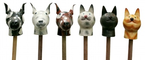 Zaun Stecker Kanu ,hunde zaunstecker,katzenzaunstecker
