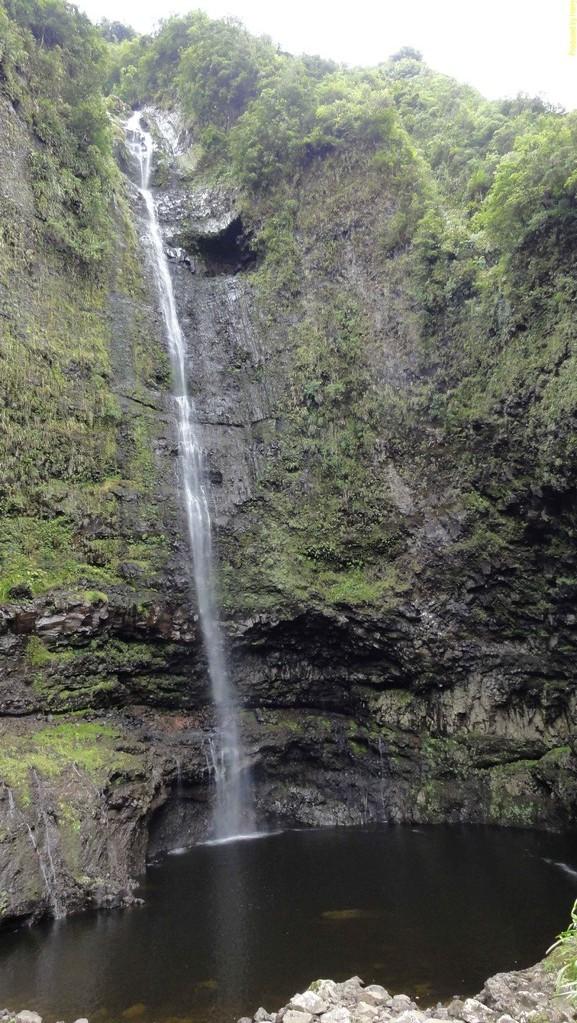 erste Tour in die Takamaka Schlucht mit vielen Wasserfällen