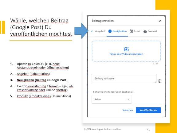 Dagmar Heib bietet Marketing für Heilpraktiker und berichtet in dem neuen Blog Artikel über Änderungen bei Google My Business