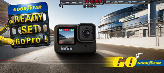 Gewinnen Sie eine von 100 GoPro Actionkameras beim Kauf von Good Year Reifen