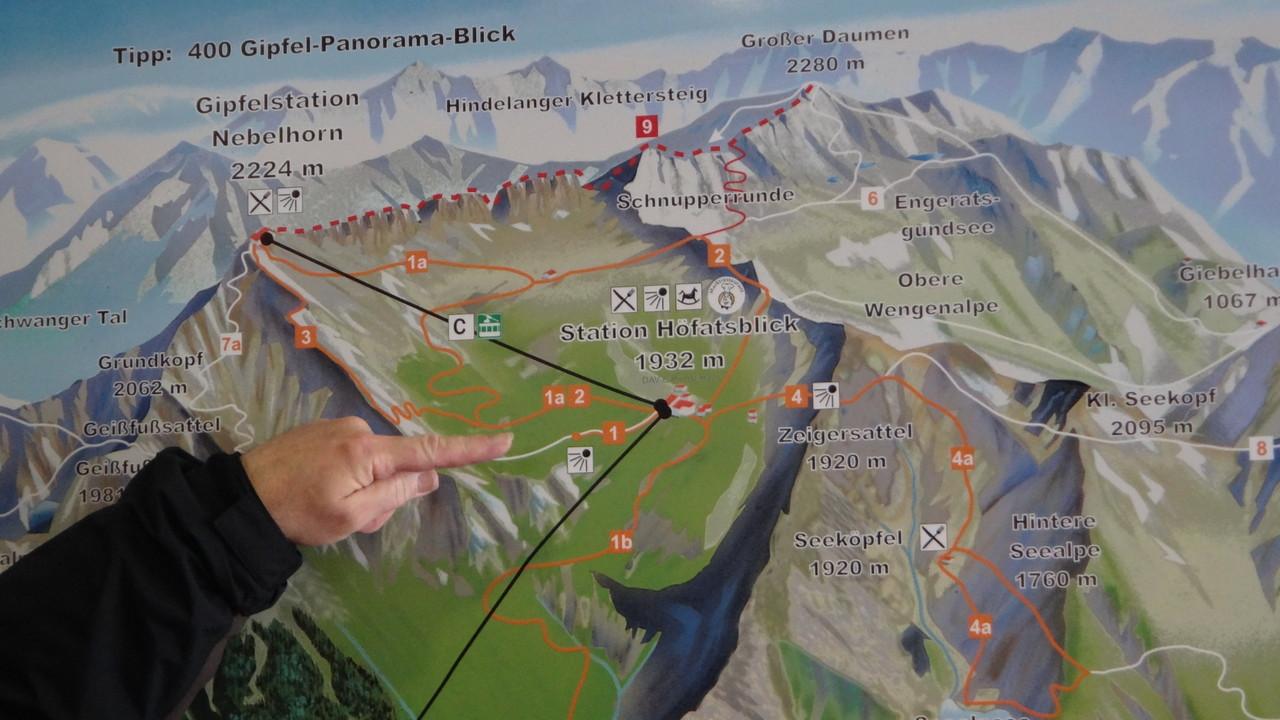 Plan vom Nebelhorn