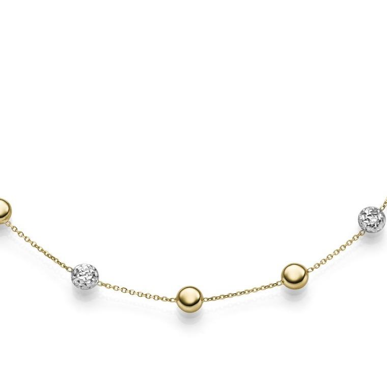 585er Gelb- & Weißgold, Diamanten,Halskette 45 cm. Art: 7817 , UVP: 780 € -10%