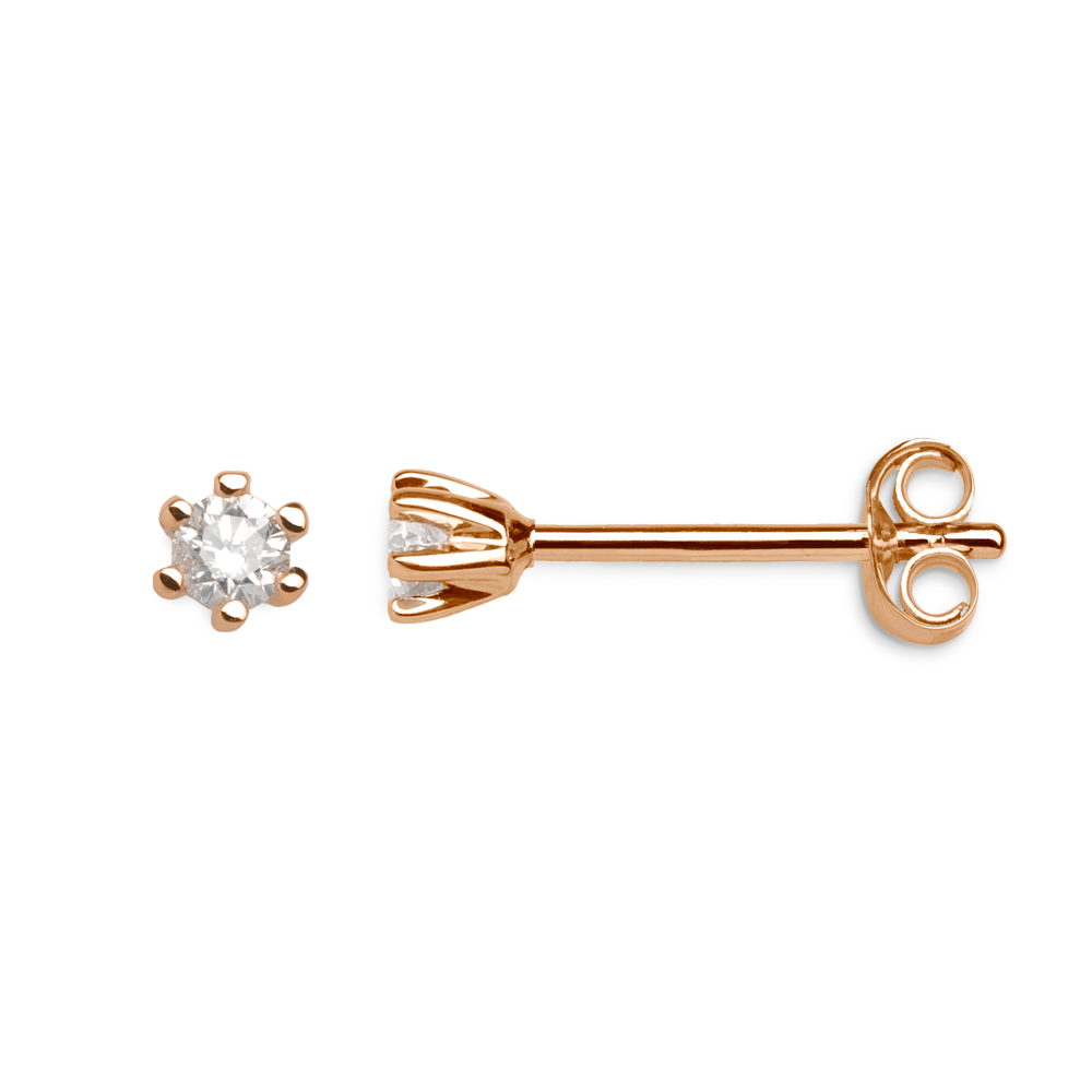 375 RoséGold, 0,10ct Brillant; Art. 7628, UVP: 249,00€