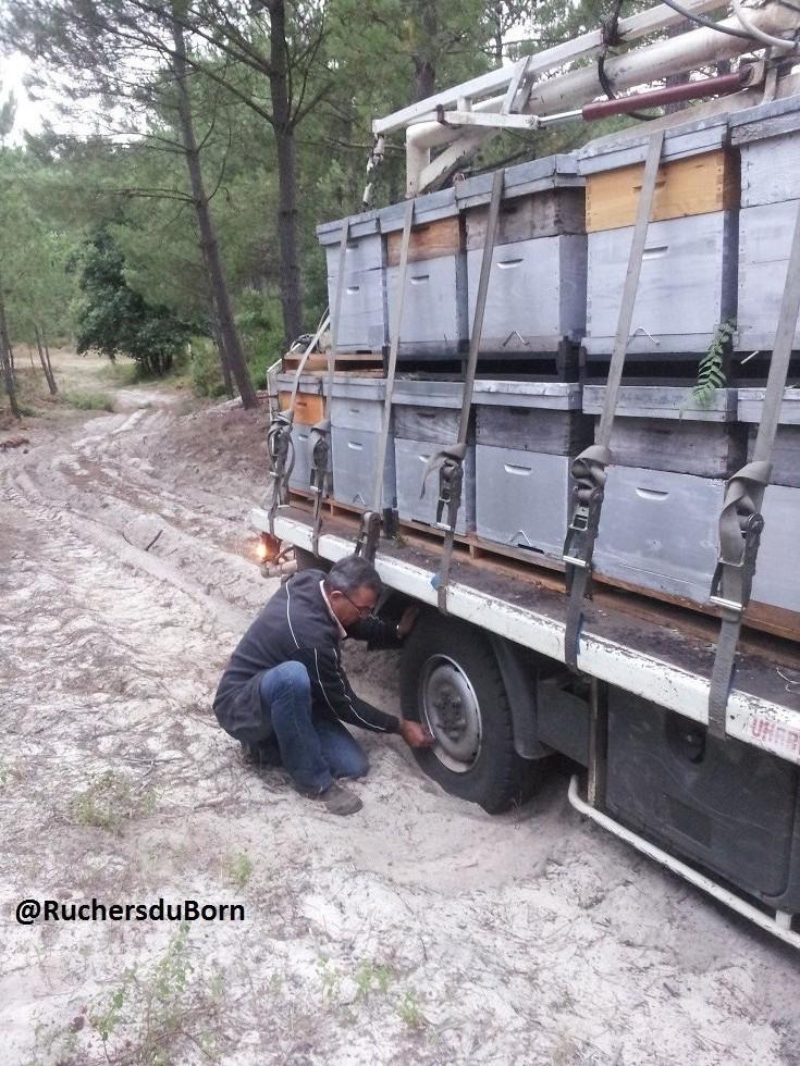 dégonfler les pneus sur la dune (juillet)