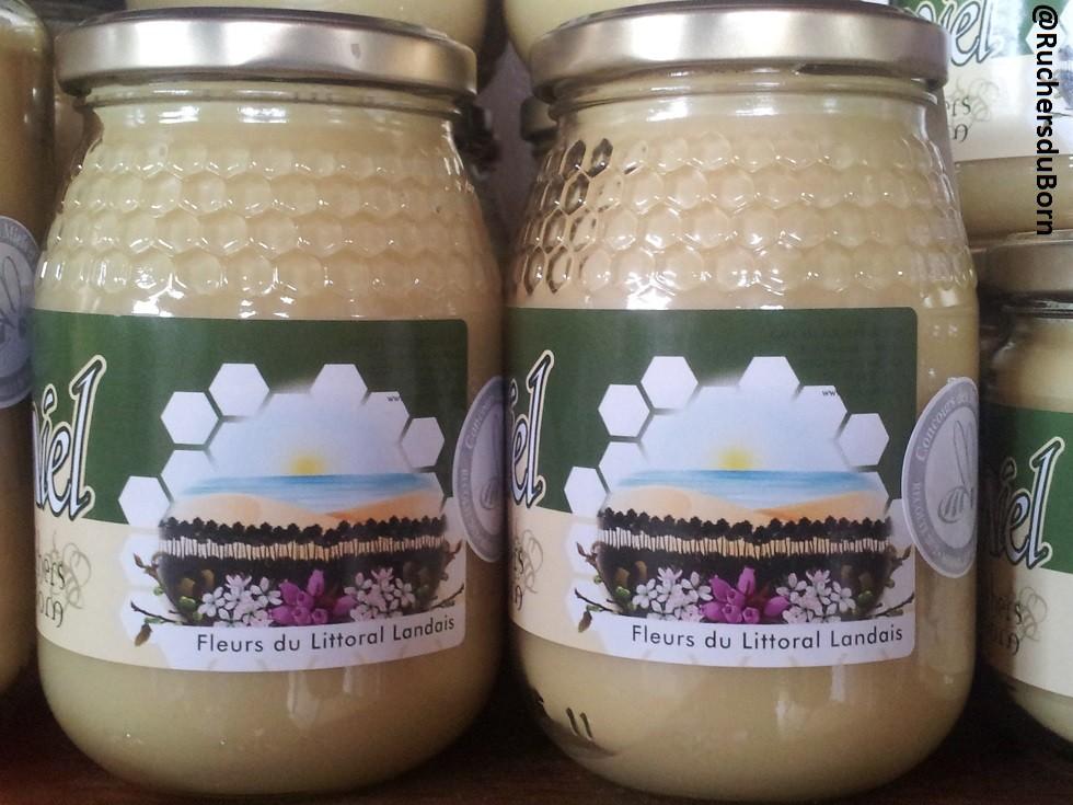 pot de miel de fleurs du Littoral landais
