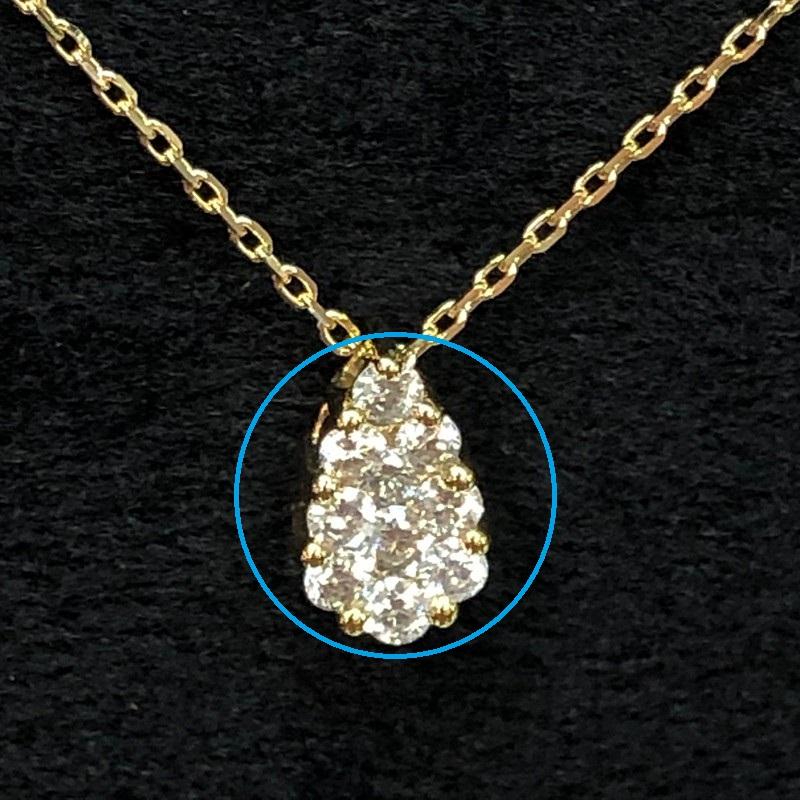 ②単独でゴールドのメッキをかけ55cmの長めのネックレスをつけて…