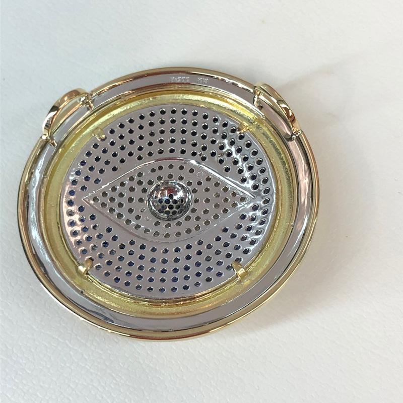 ⑥バチカンをつけずに裏にネックレスが通る環をつけました。