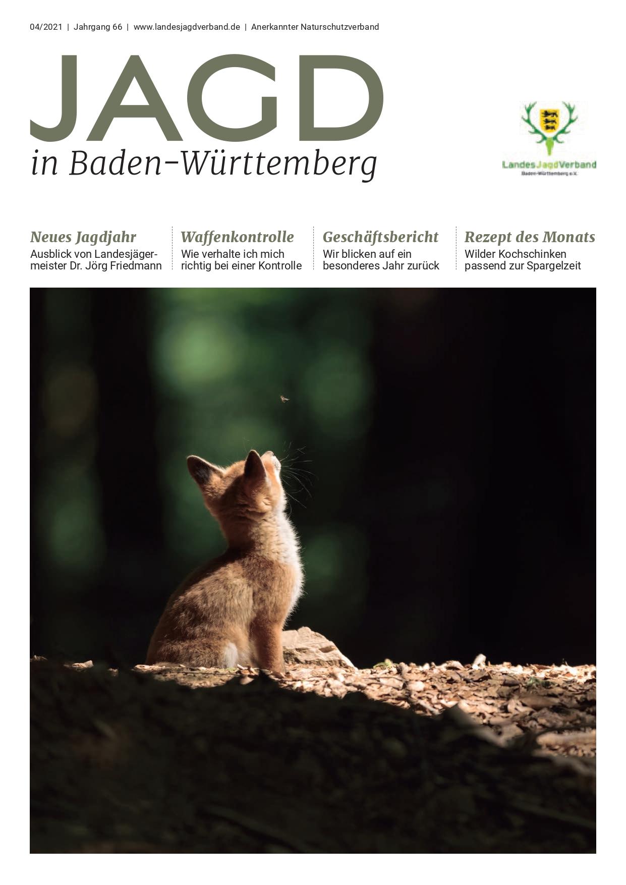 Titelseite der Jagd in Baden-Württemberg Nr. 4/2021