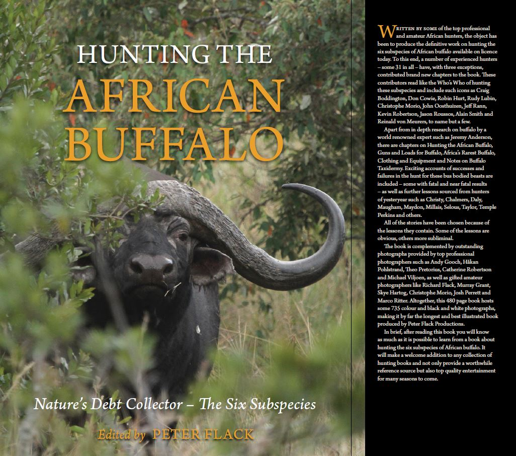 "diverse Bilder in Peter Flack`s ""Hunting The African Buffalo - Nature's Dept Collector - The Six Subspecies"""