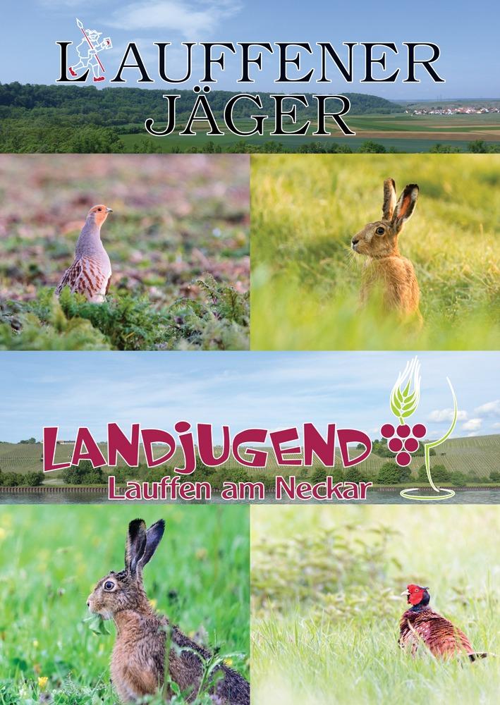 Bebilderung eines Werbeplakats der Gemeinschaft der Lauffener Jäger