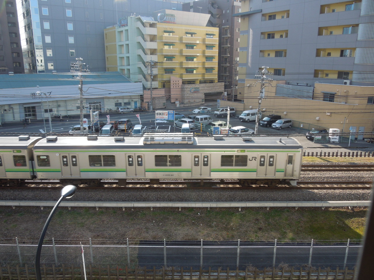 横浜線がすぐ下を通ってるよ!電車好き、集まれ~☆