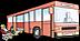 Bussymbol zur Verdeutlichung der Anfahrtsmöglichkeit und als Ergänzung zur Schriftsprache.