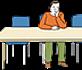 Bild eines einsamen Mannes für Menschen mit kognitiver Beeinträchtigung und Menschen, die nicht so gut Deutsch sprechen