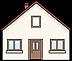 Hausabbildung, um auf die Adresse der Praxis aufmerksam zu machen