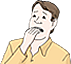 Bild eines ängstlichen Mannes als Ergänzung zum Text. Dient einem besseren Verständnis