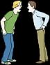 """Symbol für """"Streit"""" für diejenigen, die die gesprochene Sprache weniger gut beherrschen."""