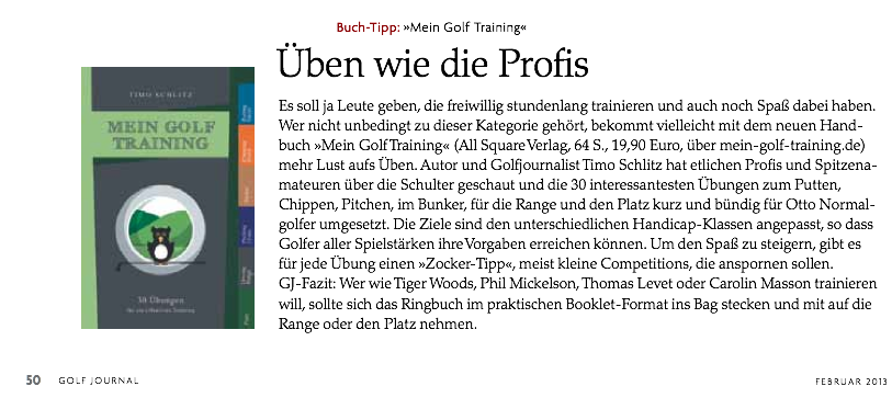 Golf Journal 2/2013, S. 50