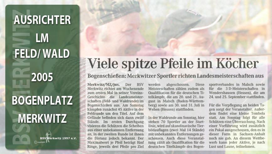 Fotocollage - Artikel - LM Feld/ Wald 2005 in Merkwitz