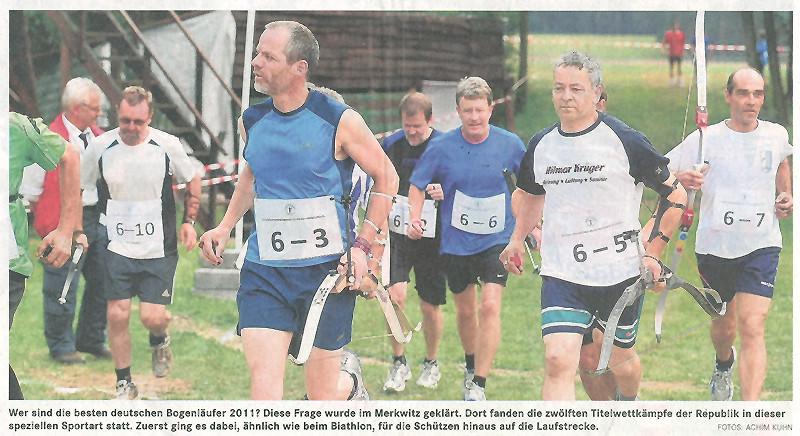 Artikel/ Foto über 12. DM im Bogenlauf in Merkwitz 2011