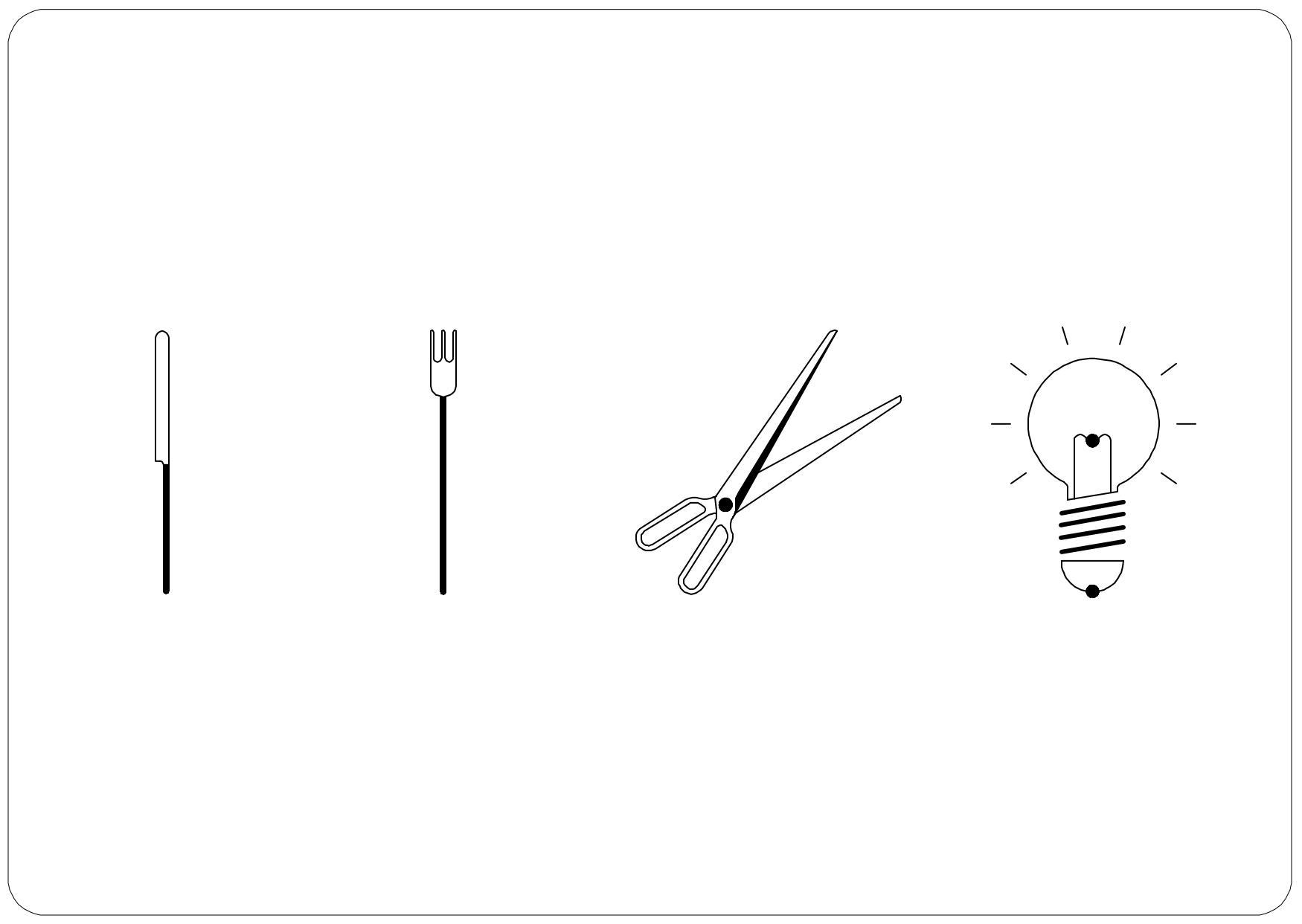 - Messer  .  Gabel  .  Schere  .  Licht -